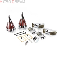 Motorcycle Dual Air Cleaner For Suzuki Boulevard M109 M109R 1983 2017 2018 19 Chrome Twin Washable Air Fliter Intake Kit