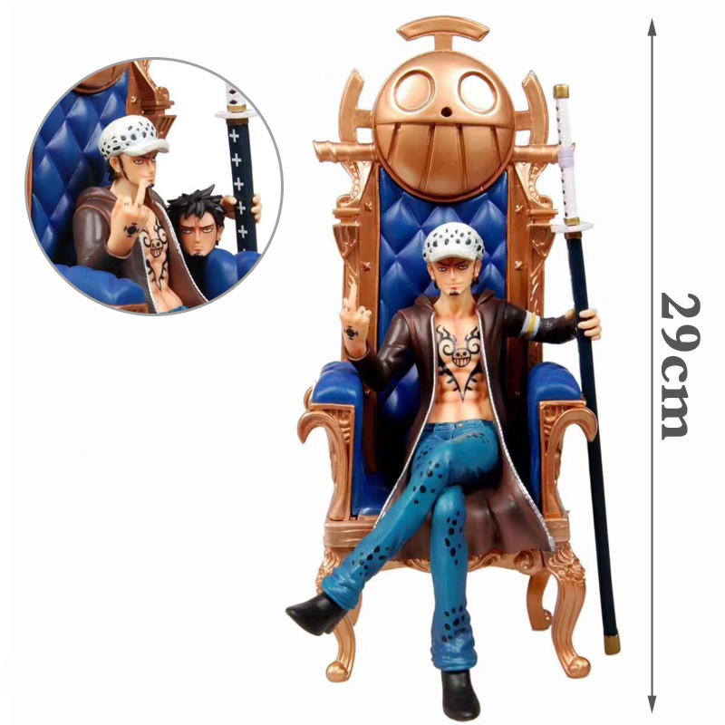Anime GK canapé Trafalgar loi érigée majeur Position assise PVC Action figurine Collection modèle jouet X3678