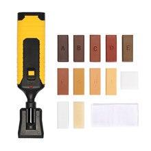 Kit de reparación de laminado, herramientas de carpintería, sistema de cera para el suelo, carcasa resistente, Chips, juego de herramientas de mano para reparación de arañazos