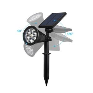 Image 3 - Lámpara Solar LED para exteriores, 7 colores, foco de pico, luz de jardín impermeable para Patio, césped, luz de pared de noche segura para casa