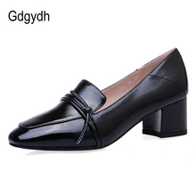 Gdgydh Square Toe Shoes Woman High Heels Pumps Rubber Sole Ladies Office Shoes Narrow Band Slip On Mules Pumps Women Big Size 43 цена 2017