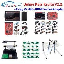 Kess v5.017 pcb vermelho K-T..V7.020 v2.25 4 led mestre K-TAG 2.25 7.020 led bdm quadro ecu chip ferramenta de ajuste kess 5.017 bdm adaptador