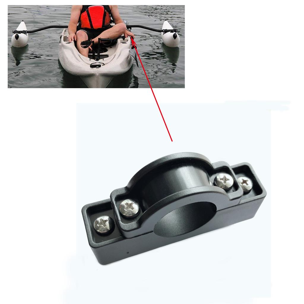 Nylon Kayak Outrigger Stabilizer Mount Holder / Motor Bracket Pole Clip Replacement Accessories
