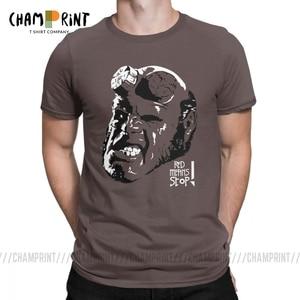 Hellboy футболки для мужчин Чистый хлопок хипстерские футболки вырез лодочкой футболки с коротким рукавом топы 4XL 5XL