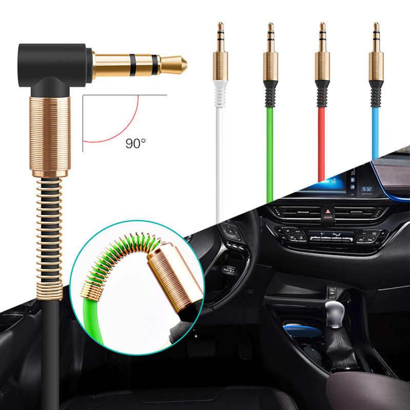 3.5 مللي متر جاك الحبل ستيريو الصوت كابل الذكور إلى الذكور كابل مساعد سيارة زوج تسجيل الصوت الكوع ل مكبر صوت للسيارة الصوت كابل MP3 MP4