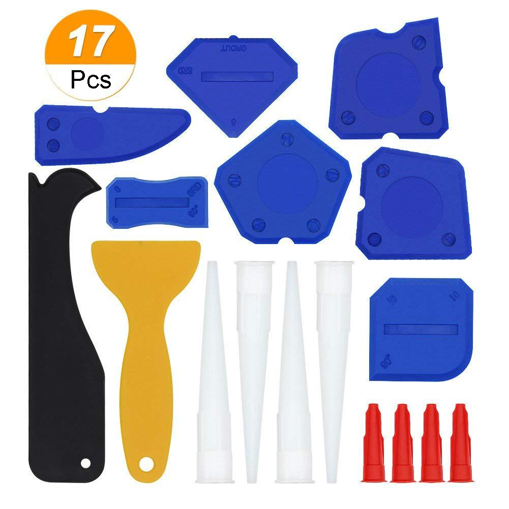 Home Finishing Beautify Door Grout Glass Glue Sealant Scraper Window Small Manual Remover Caulking Tool 17pcs/set