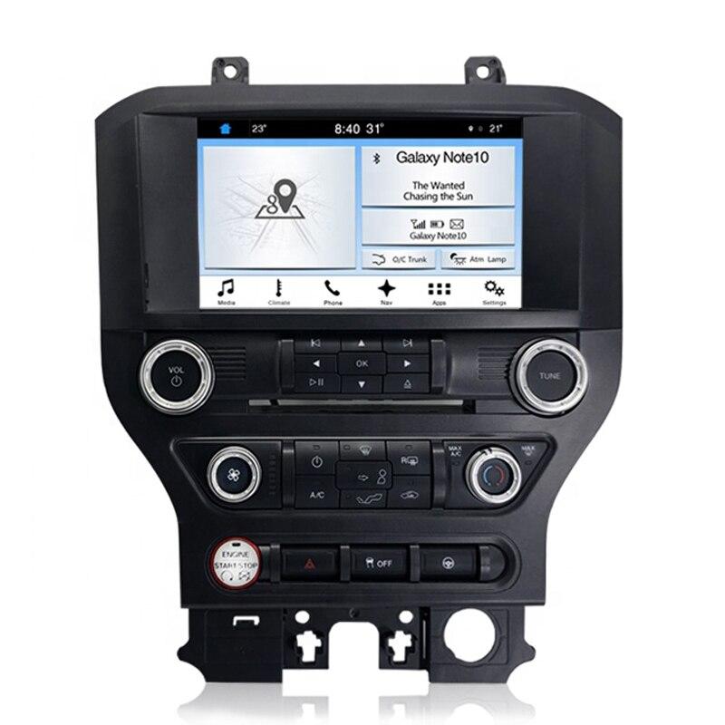 """מערכת ניווט GPS EASY AUTO רכב GPS Nav תמיכה אנדרואיד נגן MP3 8 """""""" HD מסך מולטימדיה מערכת ניווט רדיו Infotainment עבור פורד מוסטנג (2)"""