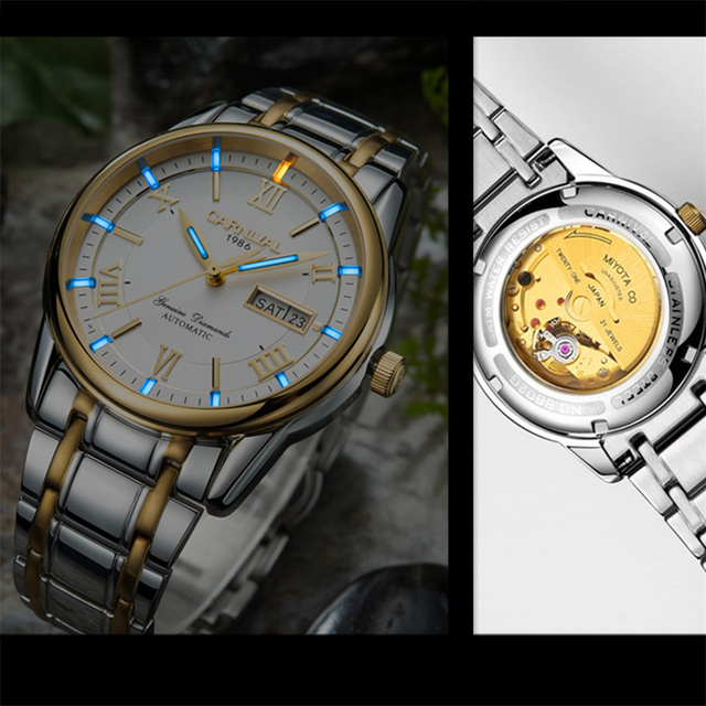 Продвижение MIYOTA T25 светящиеся тритиевые автоматические механические часы для мужчин с Двойной верх календаря Роскошные брендовые водонепроницаемые мужские часы reloj