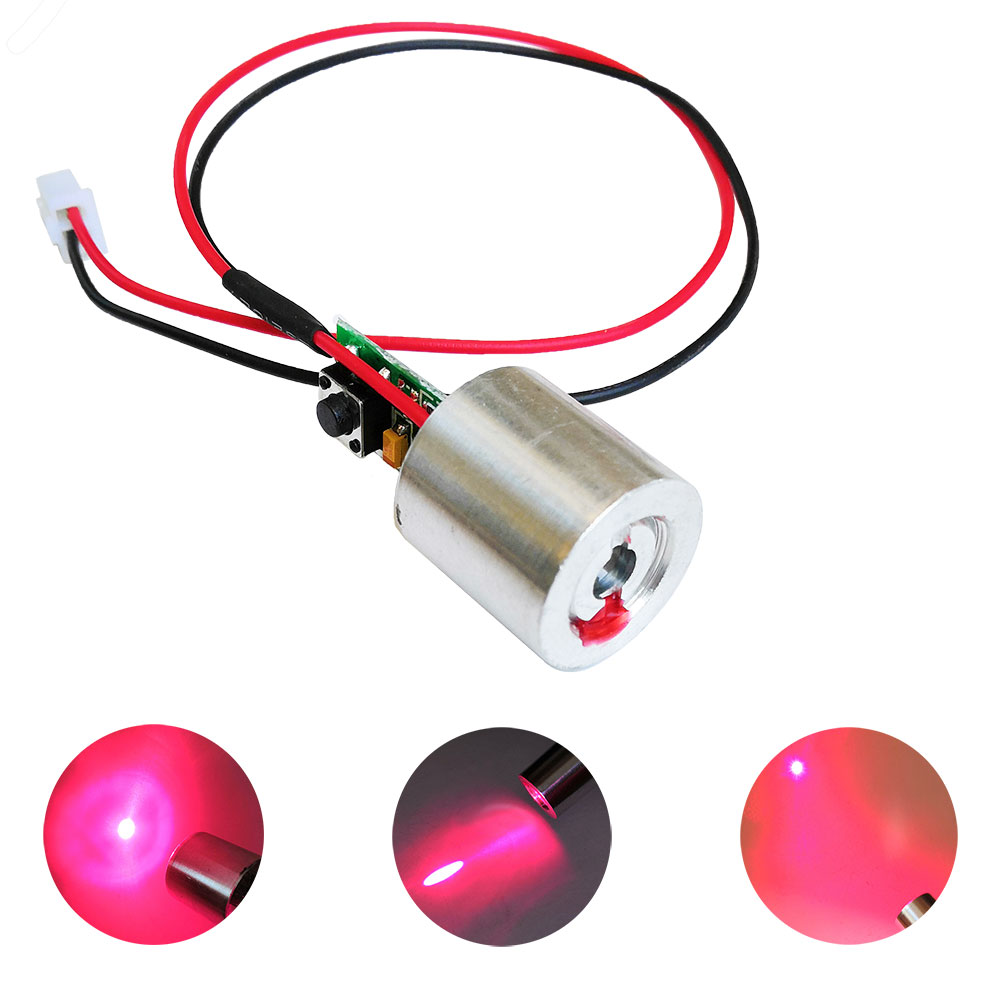 650nm 100mW Red Laser Diode Module Dot With Switch DC 3V - 5V 3.7V Diy