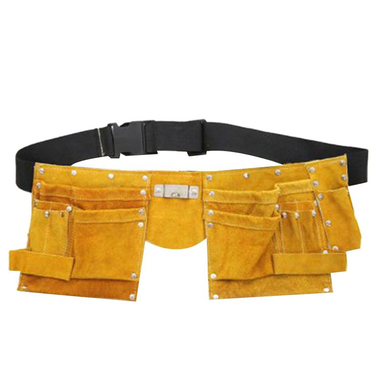 Strong Tool Bag Leather Repair Kit Belt Tools Pouches Pocket Bag For Toolbox Waist Belt Double Bag