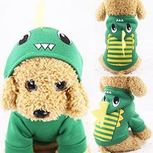 Pet dog winter dinosaur print hooded clothes pet dog long sleeve top For Small Large Large Dog Coat animale domestico 2019#5(China)