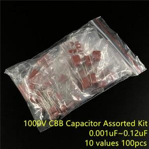 100V 0,01 uf ~ 10 мкФ CBB на металлической пленке конденсаторы набор 12 значений 94 шт