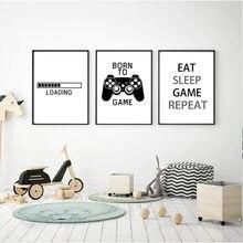 Новый дизайн игровой постер для мальчиков иллюстрация геймеров