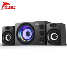 NJSJ Computer Speakers With Subwoofer USB 3-inch High / Low Pitch Can Be Adjusted Independently For PC Laptop Computer Speaker
