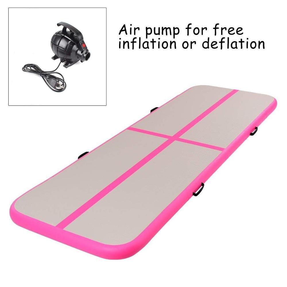Livraison gratuite 6*1*0.2m tapis de sol gonflable pour tapis de gymnastique Airtrack avec pompe à Air électrique