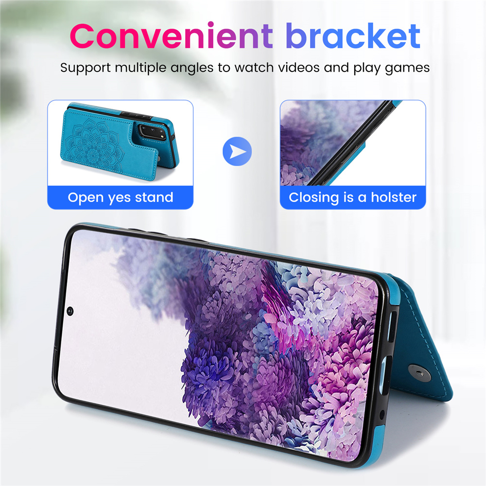 Mandala Flower Leather Wallet Card Case For Samsung S20 Ultra S10 E S9 S8 Plus S7 Edge Note 8 9 10 Plus Lite A81 A91 Phone Cover