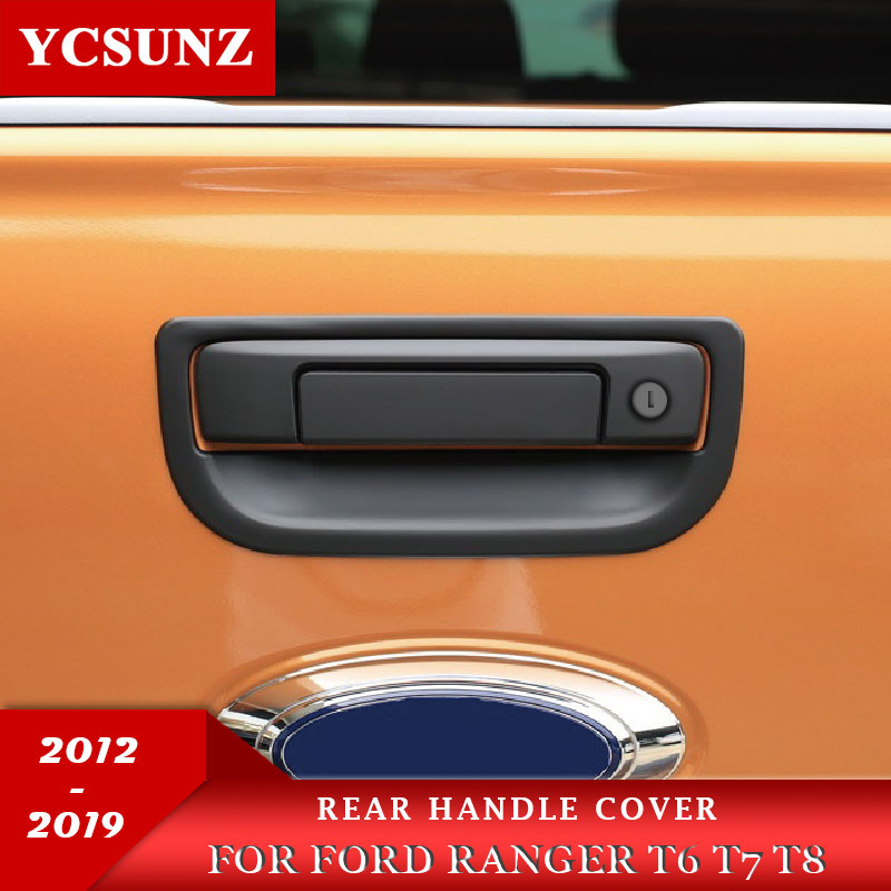 NEW Matte Black Petrol Gas Fuel Tank Door Cover For Ford Ranger T6 PX 2012-2019