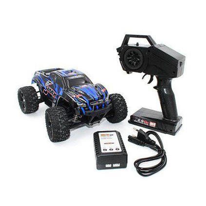 Rc auto Remo Hobby Smax 1:16 4WD RH1631 mostro sul telecomando di controllo con umidità di protezione elettronica