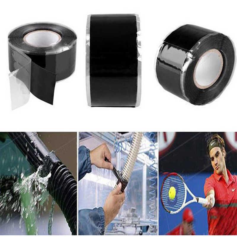 3m * 2.5cm סיליקון עמיד למים ביצועים תיקון קלטת מליטה הצלה עצמי פיוזינג חוט צינור שחור שקוף סרט קלטת סרט דביק