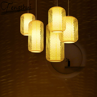 Estilo chinês luzes pingente de bambu iluminação led luminária pendente lâmpada jantar sala estar quarto cozinha café lâmpada pendurada|Luzes de pendentes| |  -
