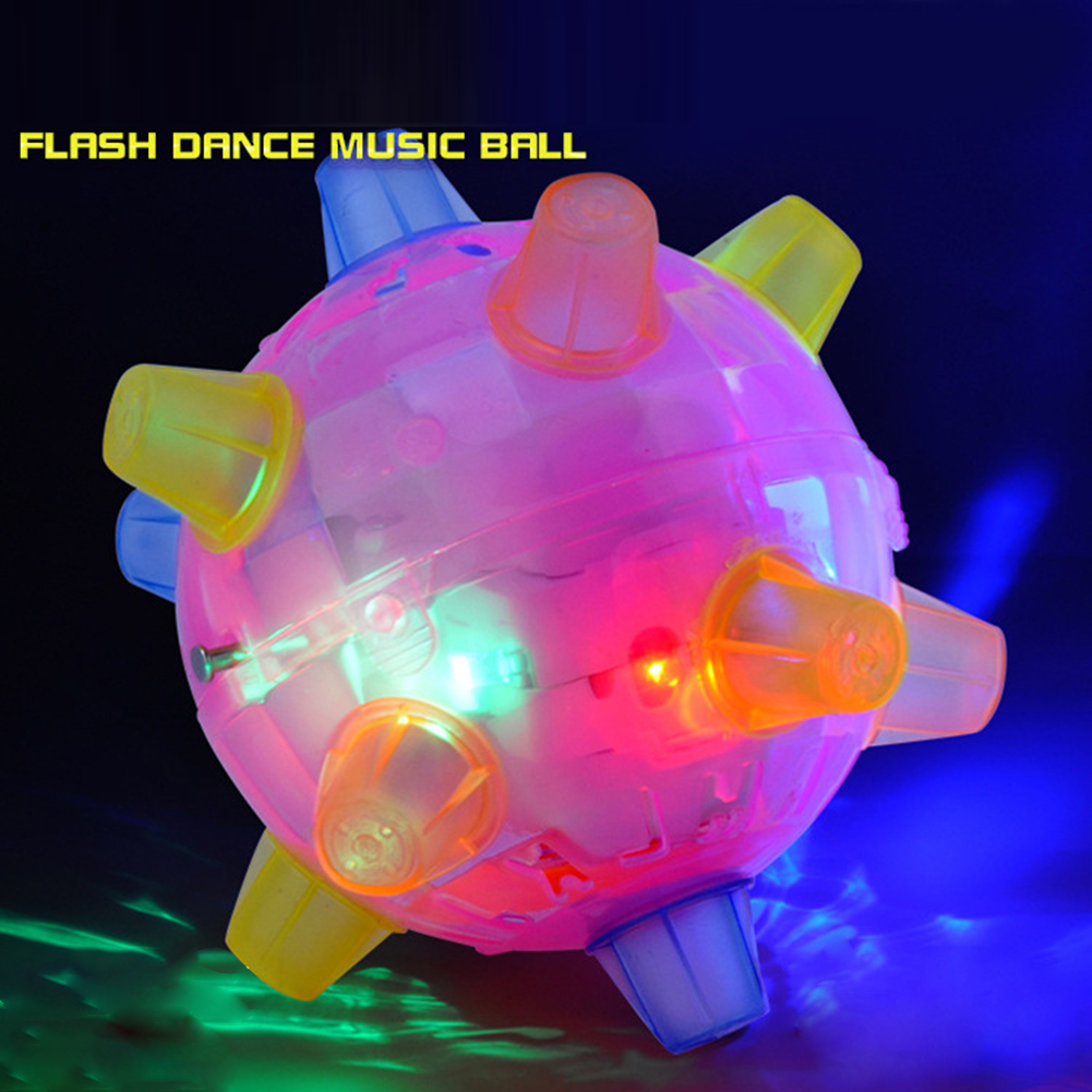 Flashing Glowing Jumping Ball Children Luminous Educational Toys Novelty Music Dancing Bounce Ball