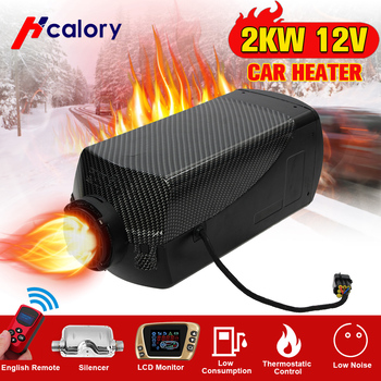 HCalory 12V 2kw Air Heating Diesels Air Parking Heater LCD Switch with Silencer and Remote For Trucks Boats Car Trailer Heater