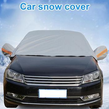 Samochód śnieg pokrywa wodoodporna odzież przeciw zamarzaniu śnieg tarcza Snowbreak śnieg blok szyby odzież letnie słońce tanie i dobre opinie CN (pochodzenie) 1 0m 1 0kg CN(Origin) 42 0cm aluminum Shield 1000g 20 0cm