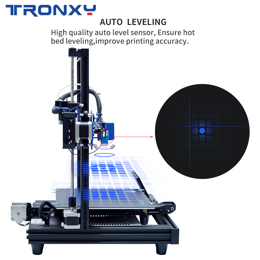 Image 4 - TRONXY 3D Printer XY 2 PRO 3D Printer Large Size I3 255*255 Hotbed V slot Resume Power Failure Printing FDM printing 3D Drucker3D Printers   -
