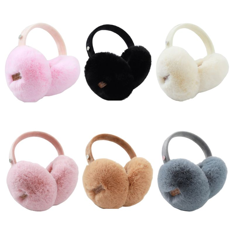 Unisex Winter Warm Bluetooth Earmuffs Wireless Solid Color Plush Headphone Foldable Music Listen Earphone Ear Warmers