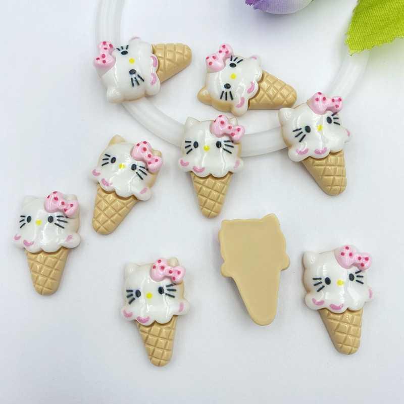 10 pz/lotto resina kawaii Carino Mini ice cream flatback cabochons Per Capelli Bow Center FAI DA TE Scrapbooking Decor C25