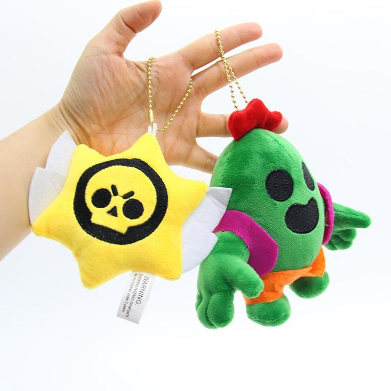 Plush Pendant Cactus Car Keychain Game Surrounding Hero Doll Creative Gift Soft Stuffed Plush Toy Boy Girl Gift WJ351