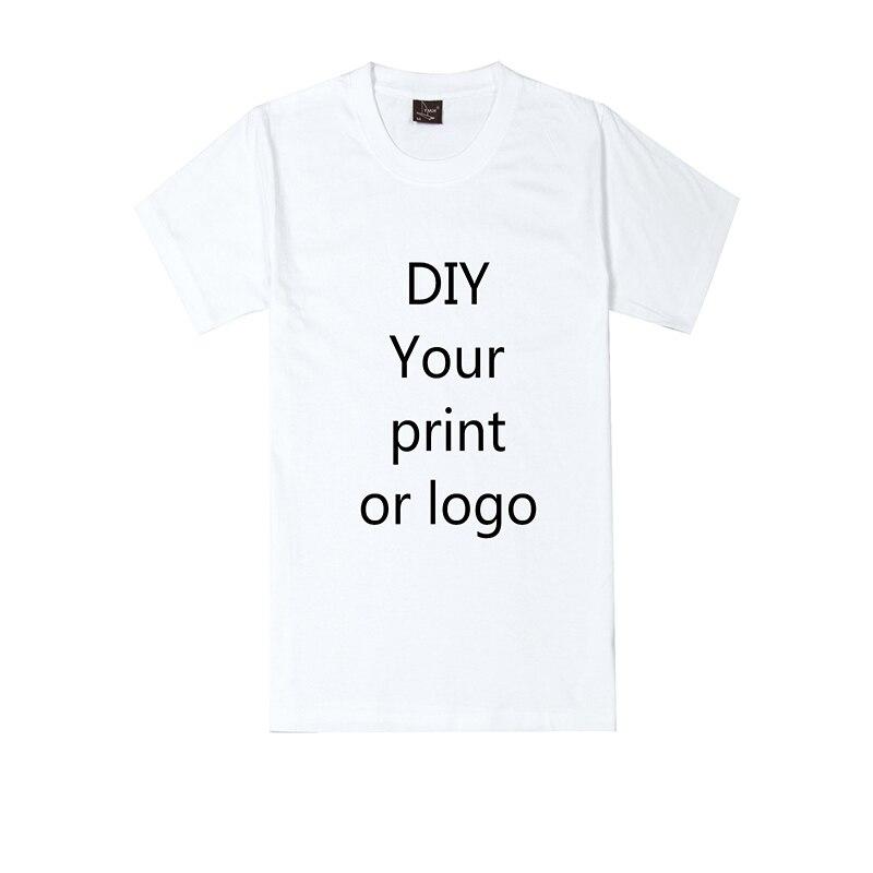Customized Print T Shirt For Men DIY Your Like Photo Or Logo White Top Tees T-shirt Men's Size S-4XL Modal Heat Transfer Process