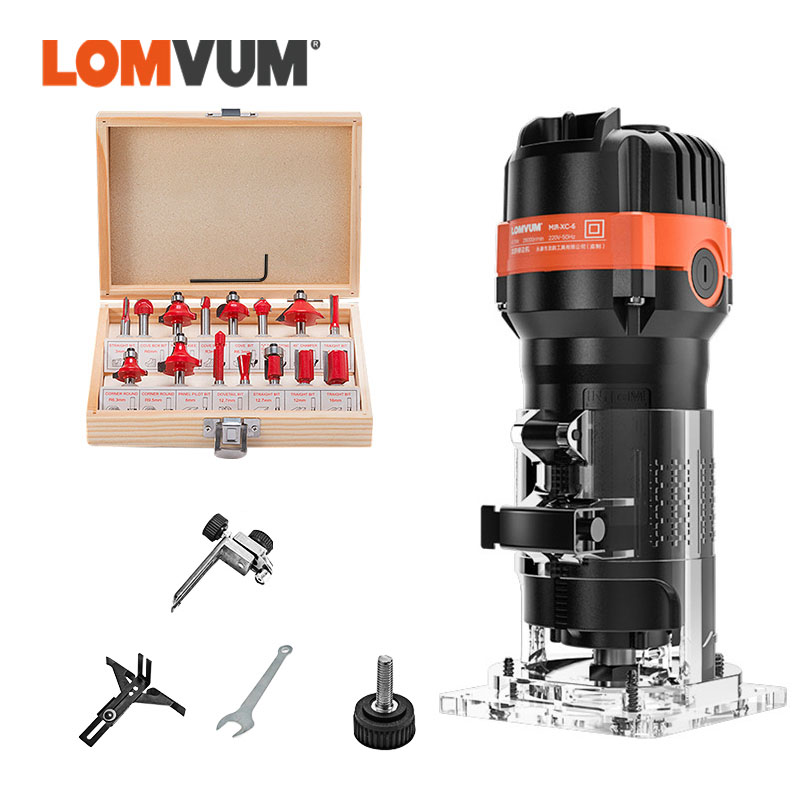 LOMVUM Wood Router Tools For Carpenter Wood Trimmer Woodworking Tools Slotting Manual Milling Cutter Electric Power Tools Router