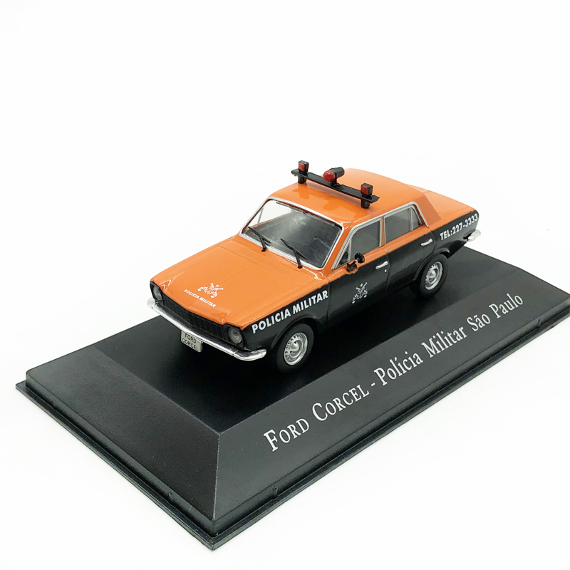 <font><b>IXO</b></font> 1/43 FORD CORCEL Ford Sao Paulo Police Car Alloy Model Car Collection Model Toy image