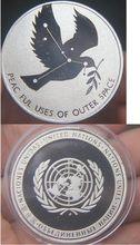 Un paz chapeado moeda comemorativa moeda medalha medalha coleção melhor presente