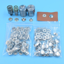 50sets 4 optional colors metal  Ring Spring Type snap with suited mold press stud buttons die fasten tool for DIY bulk clothing 50sets optional 12 colors t5 plastic buttons with mold snap resin press stud fastener die for diy sewing bulk clothing decor