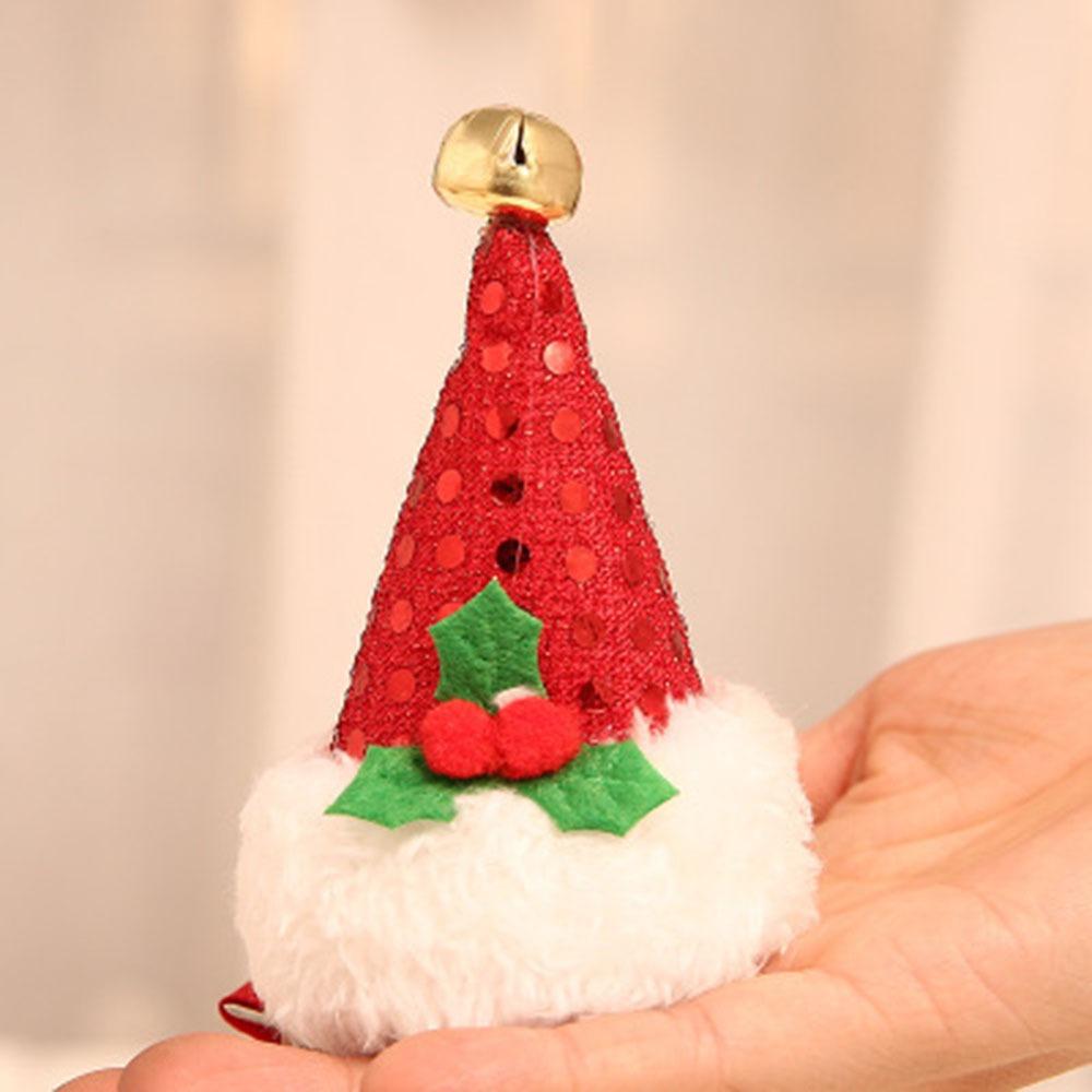 Baby Girls Novelty DIY Material Hair Clips Christmas Hairpins Xmas Hat Headwear