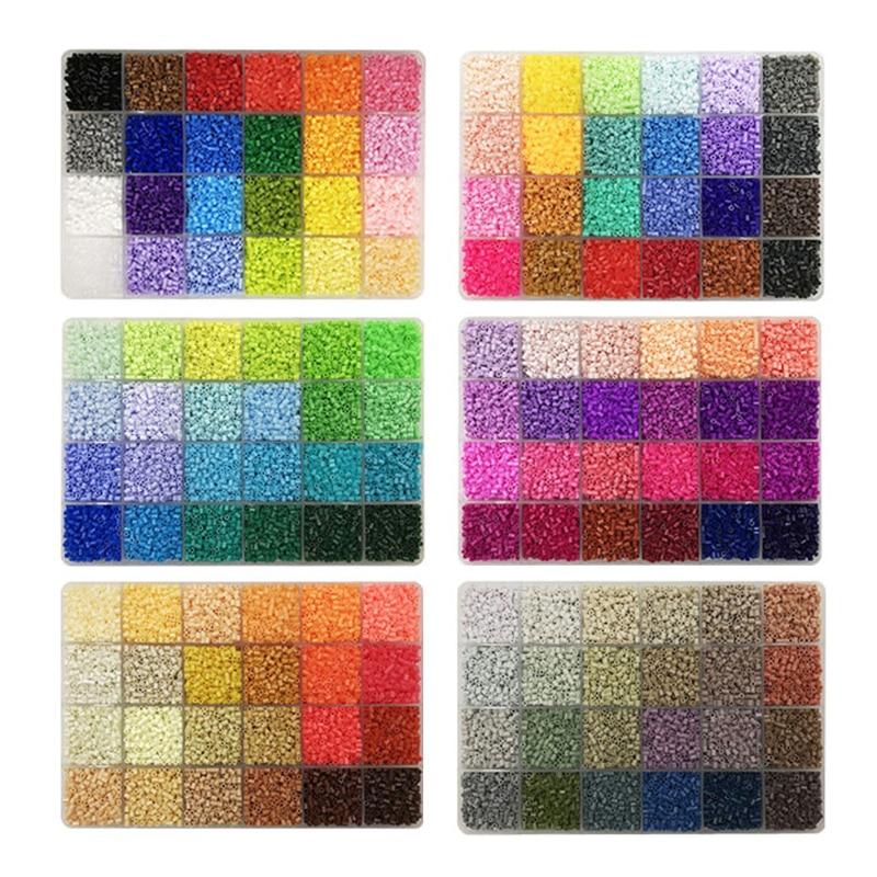 24colours/box Yantjouet 2.6mm Mini Beads Set 13200pcs DIY Hama Beads Iron Beads High Quality Gift