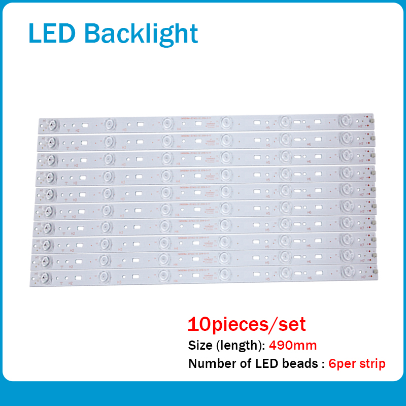 LED Backlight Strip 6 Lamp For PPTV-50C2S K50J Led Backlight 303SW500031 SW50D06A-ZC14CG-02 7765-650000-D000 6lamps