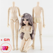 42cm Makeup Doll BJD 24 Joint Doll Dress Up DIY Toy Makeup Nude Body 1/4 Princess Fashion Toys for Girls