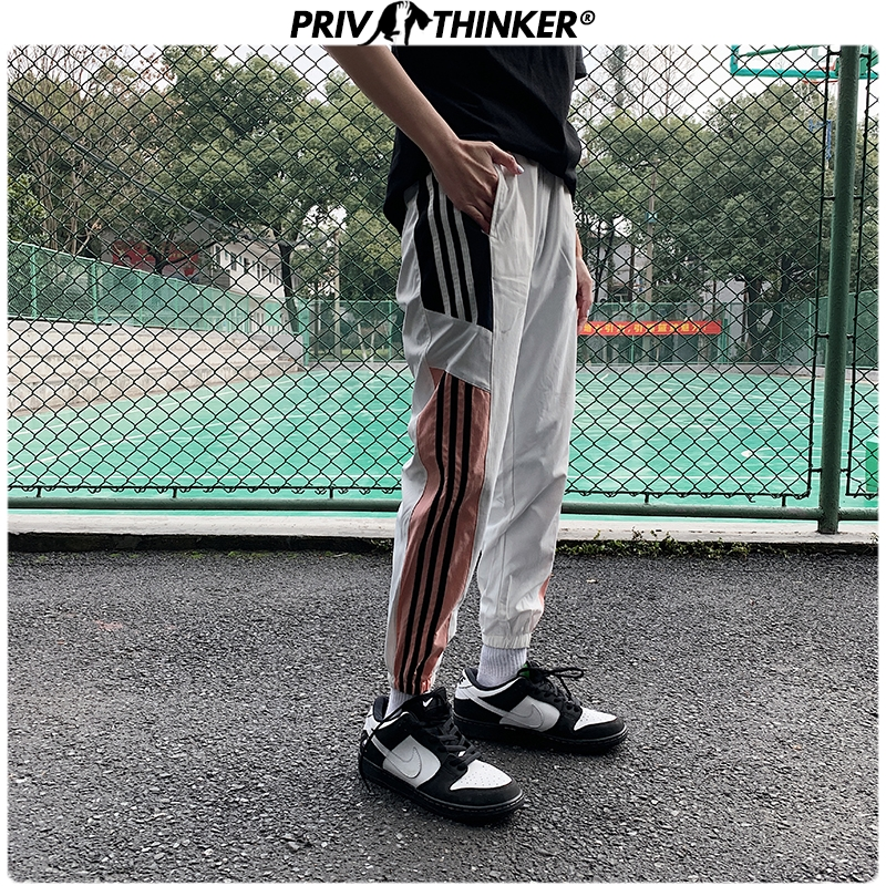 Privathinker Men Hip Hop Spring Loose 2020 Side Striped Couple Pants Mens Casual Summer Joggers Male Korean Harem Pants Fashions