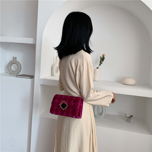 Image 3 - 2019 Winter Women Plaid Shoulder Bag Chain Messenger Bag Big Famous Brand Designer Classic Fashion Female Handbag Cross Body Bag