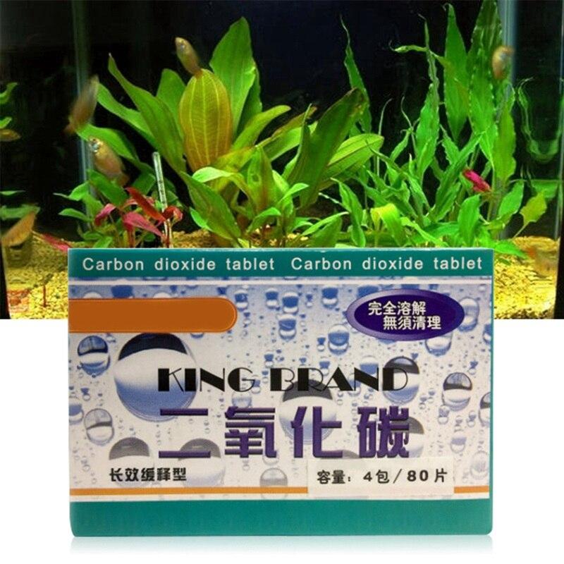 80Pcs/set Aquarium CO2 Tablet Carbon Dioxide Plants Grass Fish Tank Aquatic Diffuser Accessory