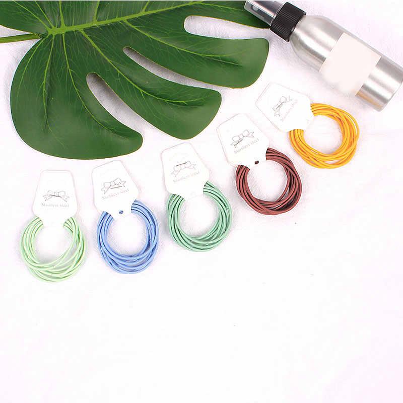 10Pcs 5 Cm Kleurrijke Mengen Elastische Haarbanden Diameter 5 Cm Hoge Kwaliteit Voor Vrouwen Mannen Meisje Kinderen Haar Touw haar Ring Accessoires