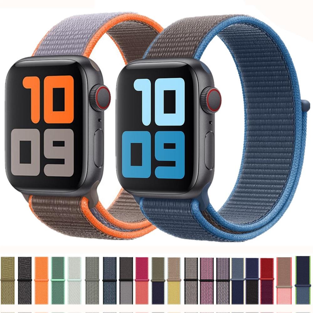 Strap For Apple Watch Band 44mm/40mm Sport Loop Iwatch 42mm 38mm Bracelet Correa Pulseira Nylon Watchband Applewatch 5 3 4 44 42