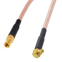 10 قطعة/الوحدة MMCX الذكور الزاوية اليمنى إلى MMCX الإناث مستقيم RG316 RF محوري ضفيرة كابل MMCX MMCX تمديد الحبل كابل 10 سنتيمتر