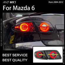AKD Car Styling tylna lampa dla Mazda 6 lampa tylna 2004-2012 Mazda6 światło tylne LED DRL dynamiczny sygnał tylne światła akcesoria samochodowe