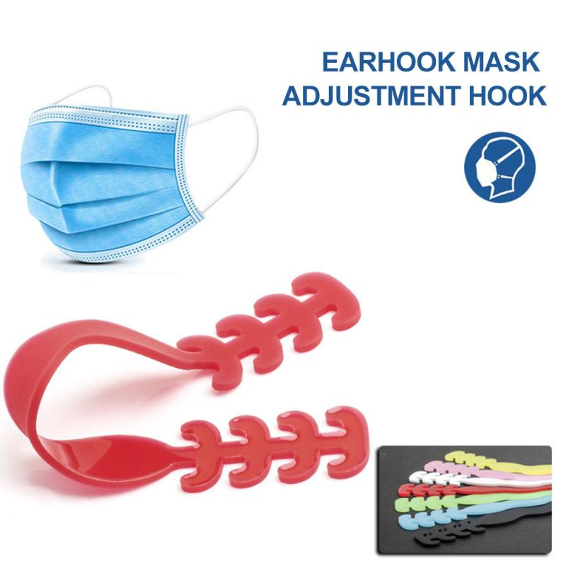 1*Mask Ear Hook Silica Gel Mask Hook Extension Buckle Hook Earmuff Mask Support Face Mask Holder Masque Mascarillas Accessories(China)