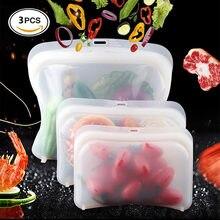 3 шт/лот многоразовые силиконовые пакеты для еды замороженные