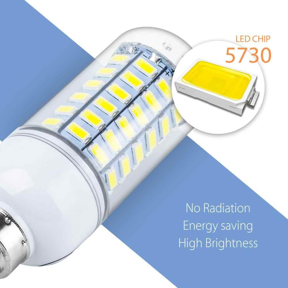 โคมไฟ LED E27 220V หลอดไฟ E14 ข้าวโพด G9 Bombillas LED 3W 5W 7W 9W 12W 15W GU10 หลอดไฟ LED B22 โคมไฟระย้าแสงเทียน 5730 SMD